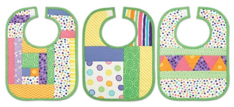 Quilt As You Go Kit Baby Bibs - Pack of 3